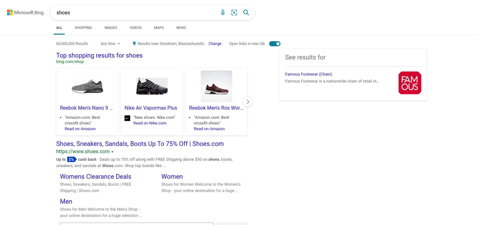 Bing Search example