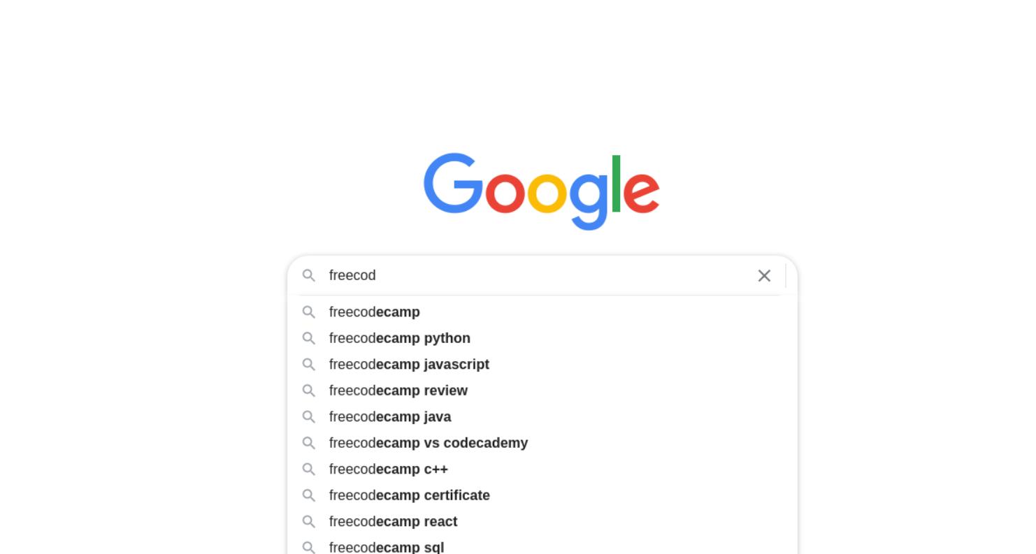 Google Autocomplete API example