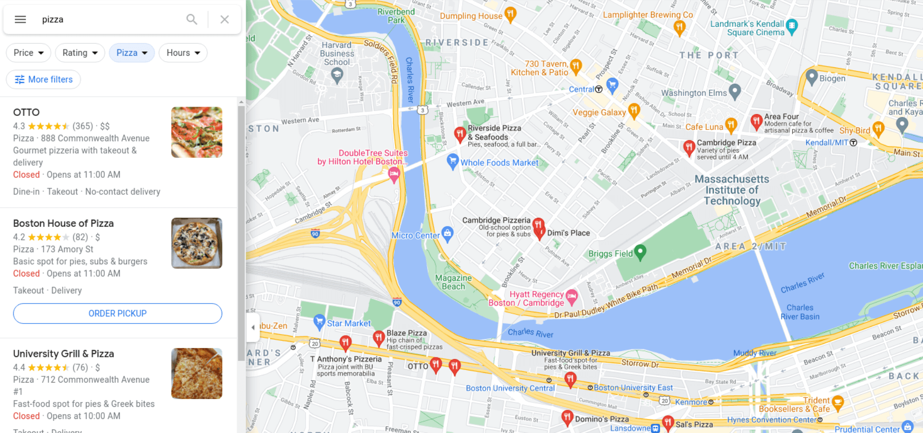 Google Maps API example