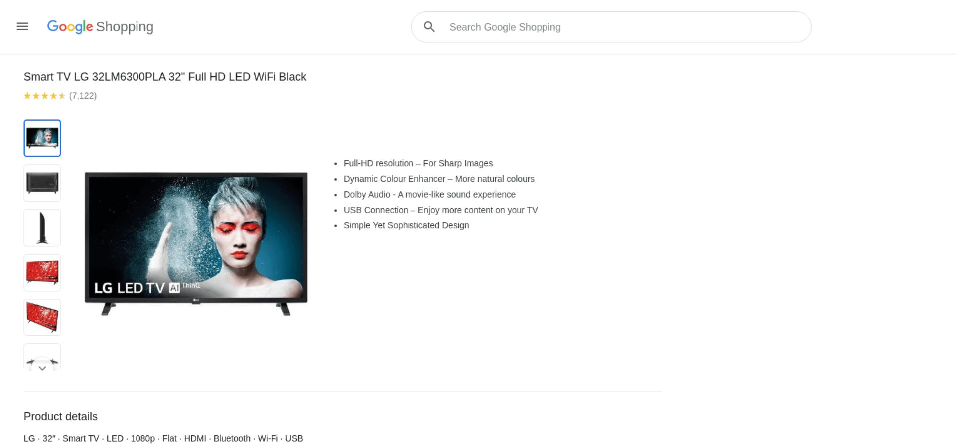 Google Product API example