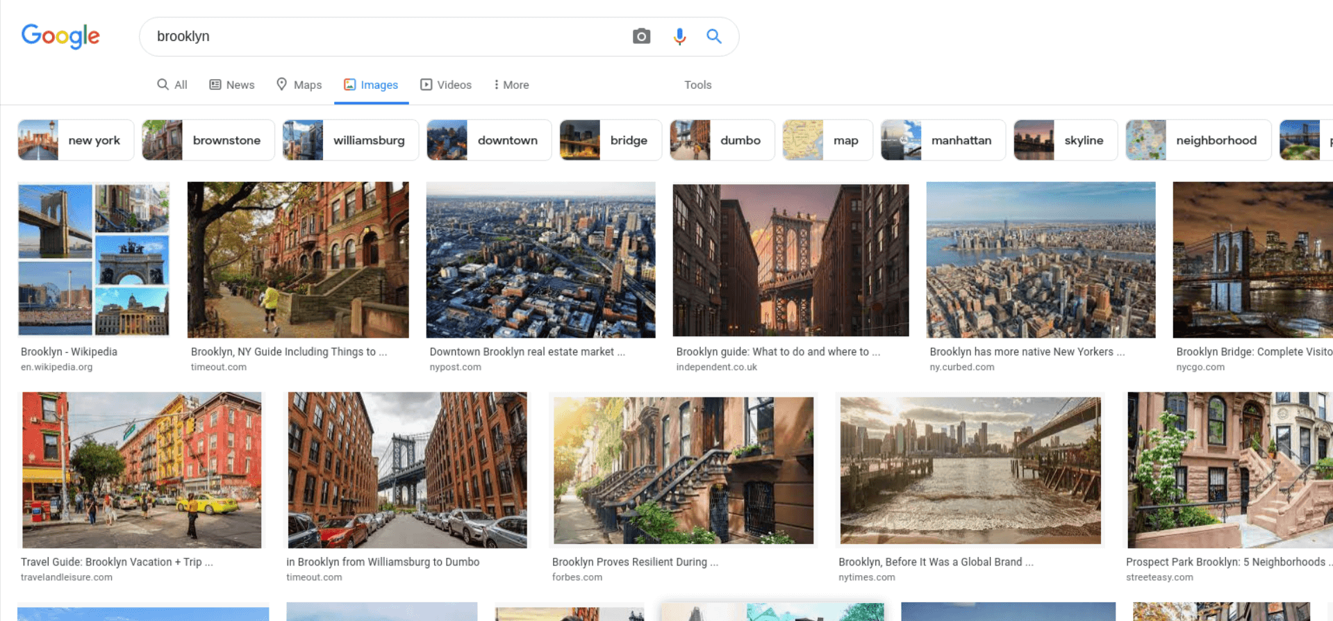 Image Results example