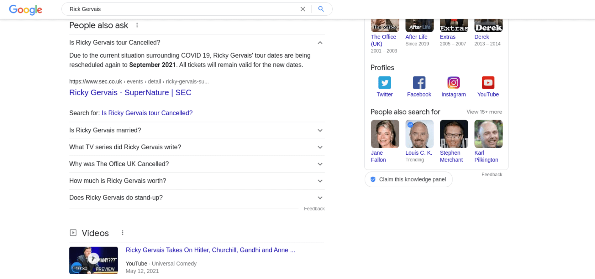 People Also Search For Results example