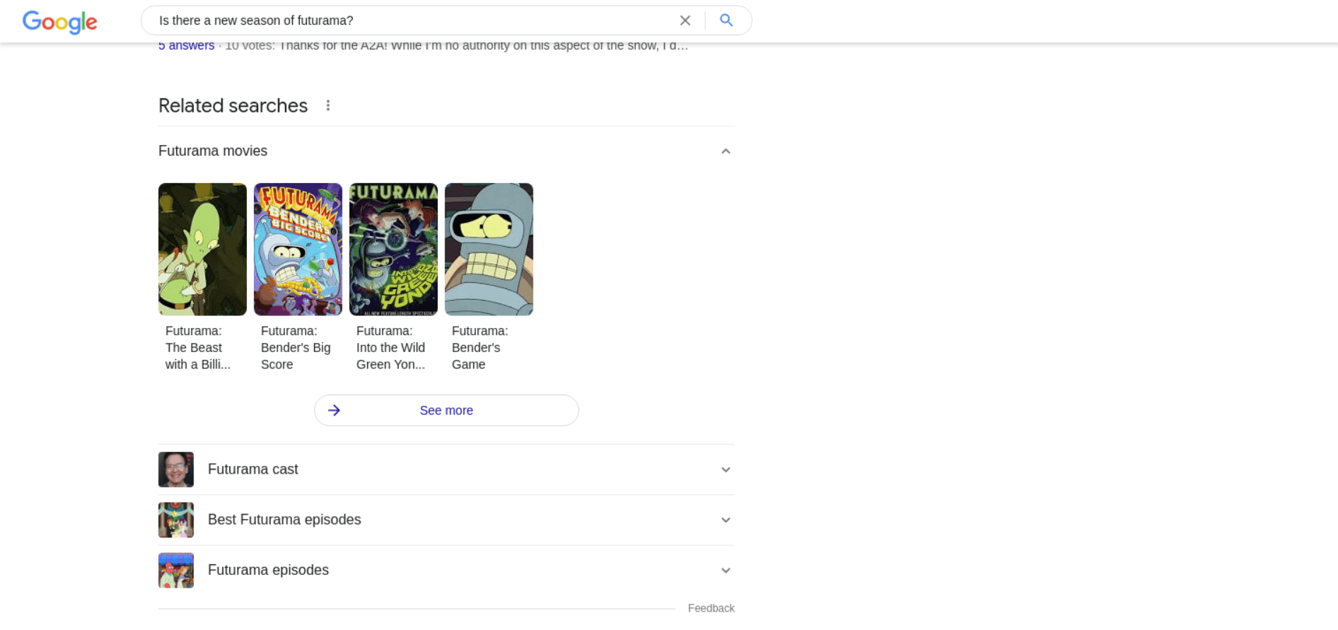 Related Searches Results example
